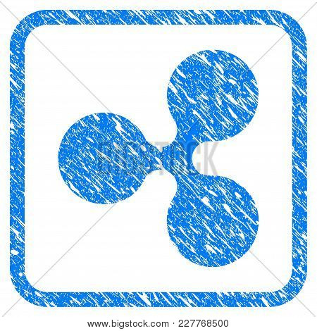 Ripple Currency Rubber Seal Stamp Watermark. Icon Vector Symbol With Grunge Design And Dirty Texture