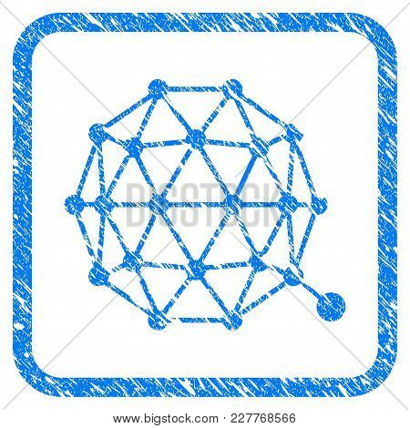 Qtum Currency Rubber Seal Stamp Watermark. Icon Vector Symbol With Grunge Design And Unclean Texture