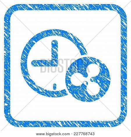 Ripple Credit Time Rubber Seal Stamp Watermark. Icon Vector Symbol With Grunge Design And Dirty Text