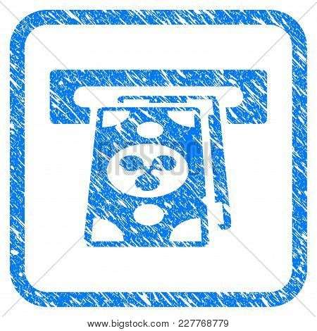 Ripple Atm Terminal Rubber Seal Stamp Imitation. Icon Vector Symbol With Grunge Design And Unclean T