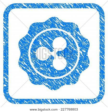Ripple Award Rubber Seal Stamp Imitation. Icon Vector Symbol With Grunge Design And Unclean Texture