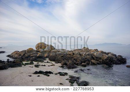 Beautiful Sandy Beach Samil In Vigo, Vigo, Galicia, Spain