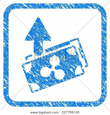 Ripple Expences Banknotes Rubber Seal Stamp Watermark. Icon Vector Symbol With Grunge Design And Dus