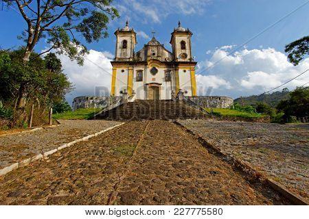 Church in Ouro Preto, Minas Gerais, Brazil