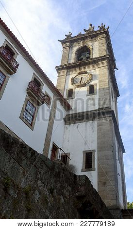 View Of The Sao Goncalo Convent Bell Tower, In Amarante, Portugal