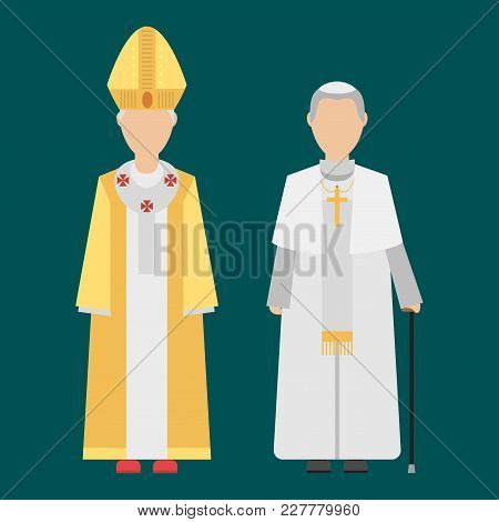 Religion People Characters Vector Group Of Different Human Nationalities Men Wearing Traditional Clo