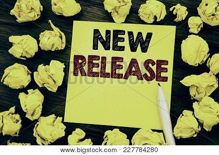Writing Text Showing New Release . Business Concept For Technology Software Update Written On Sticky