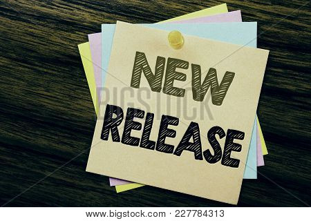 Conceptual Hand Writing Text Caption Inspiration Showing New Release . Business Concept For Technolo