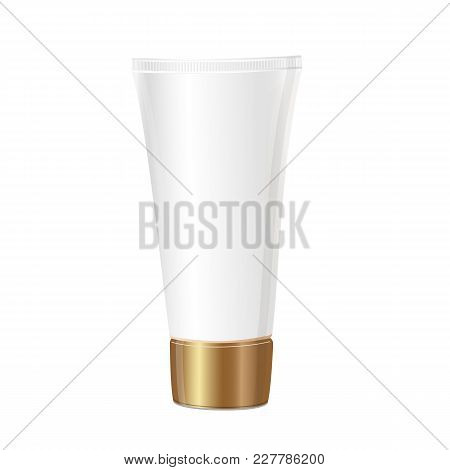 Tube Mock-up For Cream. Isolated On White Background. Packaging Collection. Vector Illustration.
