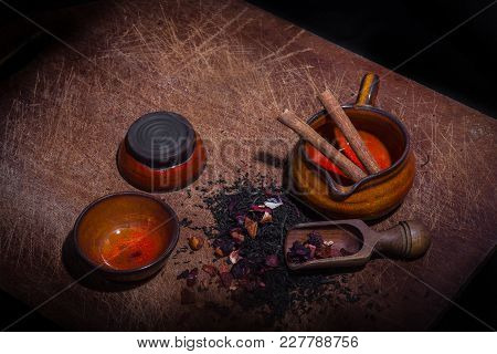 Flavored Tea Mix With Cinnamon And Dried Fruit
