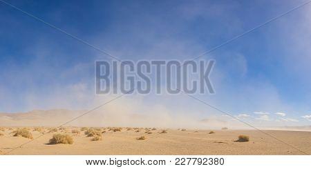 Panorama Of Desert Sandstorm