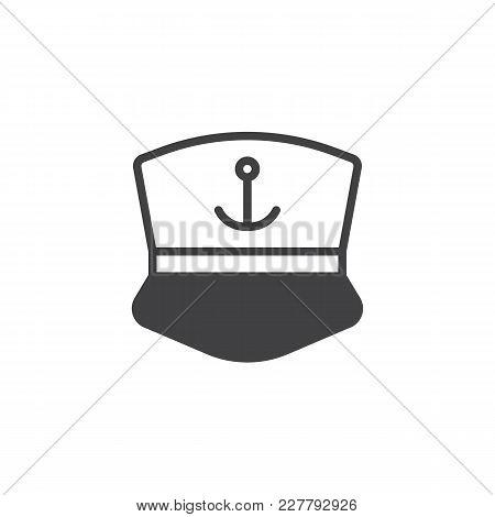 Captain Cap Vector Icon