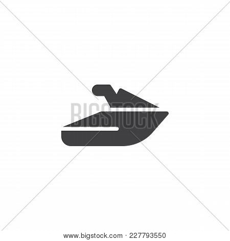 Jet Ski Vector Icon. Filled Flat Sign For Mobile Concept And Web Design. Scooter Transport Water Spo