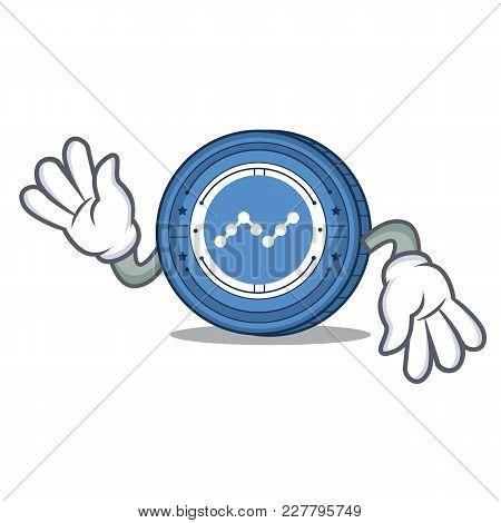 Crazy Nano Coin Mascot Cartoon Vector Illustration