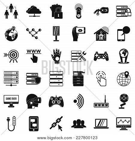 Broadcasting Company Icons Set. Simple Set Of 36 Broadcasting Company Vector Icons For Web Isolated