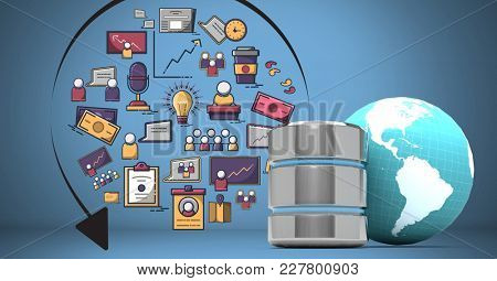 Digital composite of Composite image or business drawings