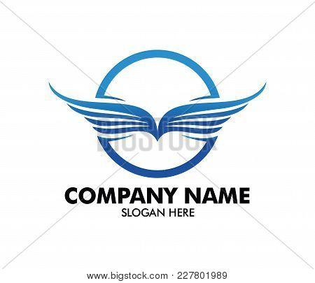 Automotive Factory Industrial Wing Vector Logo Design