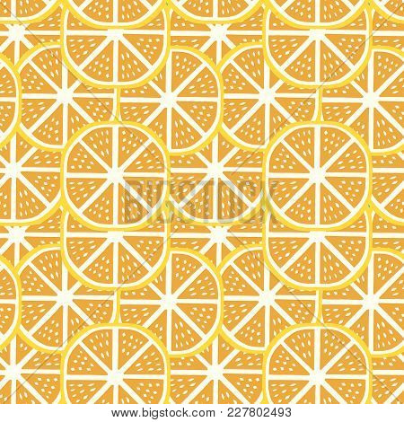 Japanese Traditional Retro Wagara Seamless Pattern Background Orange Slice
