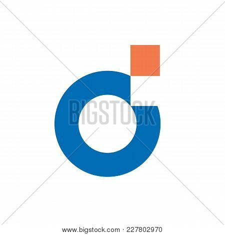 Digital Letter D Logo. Clean And Simple Logo Template, Made From 100% Vector Shapes You Can Resize W