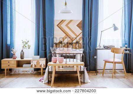Wooden Table In Kid's Bedroom