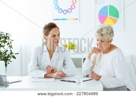 Dietetician And Patient With Problems