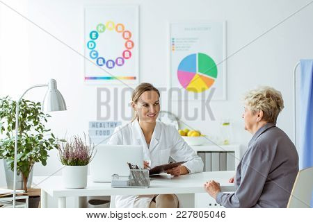 Senior On Dietician Consultation