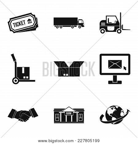 Procurement Icons Set. Simple Set Of 9 Procurement Vector Icons For Web Isolated On White Background