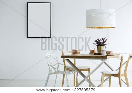 White Dining Room Interior