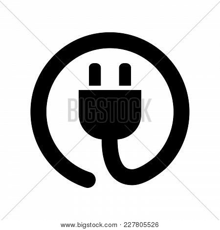 Power Cord Icon Isolated On White Background. Power Cord Icon Modern Symbol For Graphic And Web Desi