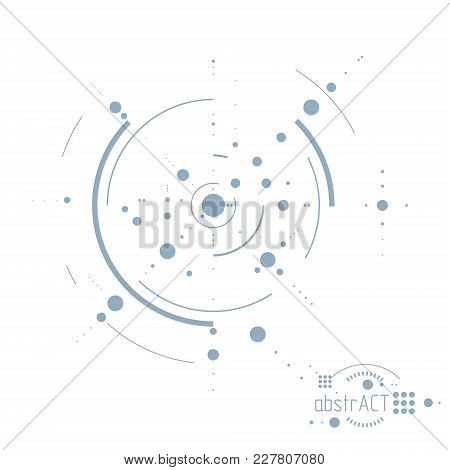 Engineering Technological Vector Backdrop Made With Circles And Lines. Modern Geometric Composition