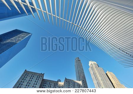 New York City - August 24: Exterior Of The Wtc Transportation Hub On August 24, 2017 In New York Cit
