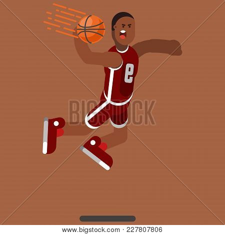 Bascketball Player Dooing Dank. Vector Illustration, Eps 10
