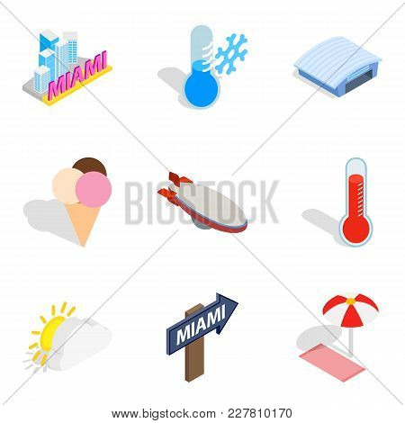 Hop Icons Set. Isometric Set Of 9 Hop Vector Icons For Web Isolated On White Background