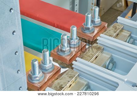 The Electric Busbars Are Connected To The Automatic Switches By A Bolted Connection. Busbars Are Ins