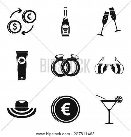 Marriage Icons Set. Simple Set Of 9 Marriage Vector Icons For Web Isolated On White Background