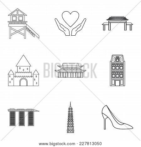 Lover Icons Set. Outline Set Of 9 Lover Vector Icons For Web Isolated On White Background
