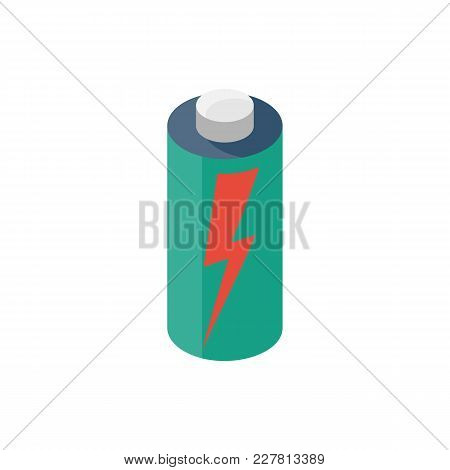 Battery Energy Power. Accumulator Electrica. Charging Of Capacitive Devices. Vector Illustration Iso