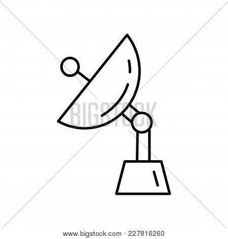 Radars Antenna Icon In Line Style. Space Illustration With Radars Antennain White Background. Elemen