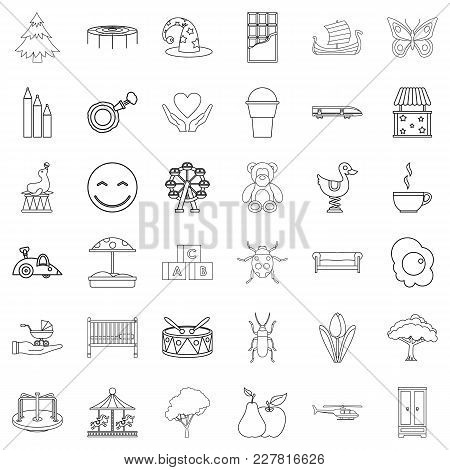 Sitter Icons Set. Outline Set Of 36 Sitter Vector Icons For Web Isolated On White Background