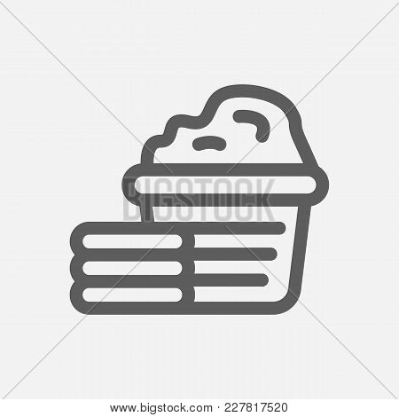 Laundry Icon Line Symbol. Isolated Vector Illustration Of Clothes Sign Concept For Your Web Site Mob
