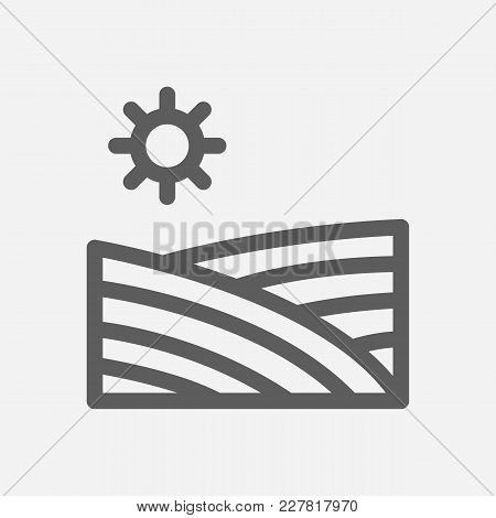 Harvest Field Icon Line Symbol. Isolated Vector Illustration Of Field Sign Concept For Your Web Site