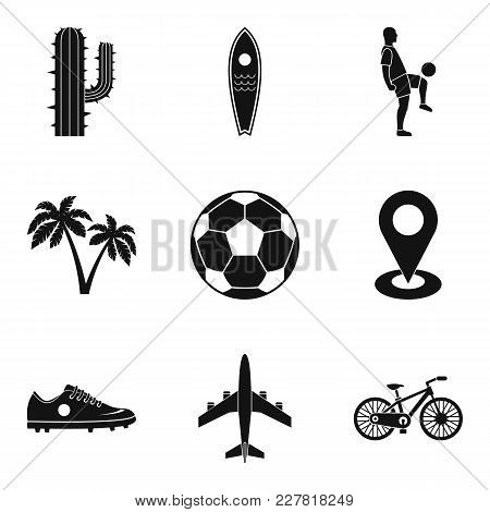 South America Icons Set. Simple Set Of 9 South America Vector Icons For Web Isolated On White Backgr