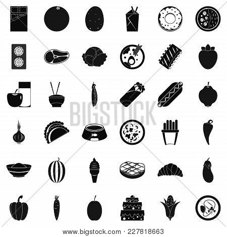 Energy Value Icons Set. Simple Set Of 36 Energy Value Vector Icons For Web Isolated On White Backgro