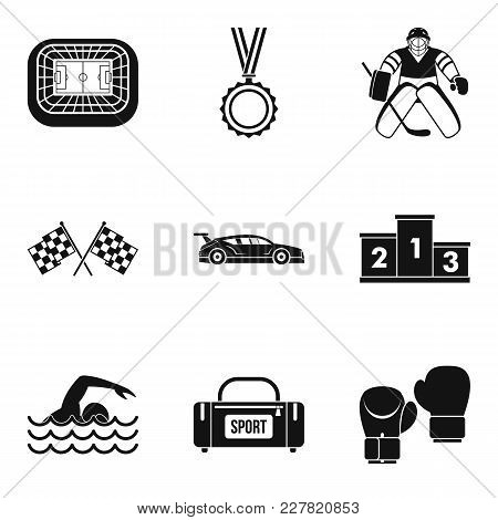 Sportsmanlike Icons Set. Simple Set Of 9 Sportsmanlike Vector Icons For Web Isolated On White Backgr