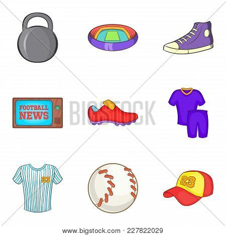Sportsmanship Icons Set. Cartoon Set Of 9 Sportsmanship Vector Icons For Web Isolated On White Backg