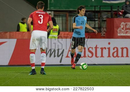 Vienna, Austria, 2017/11/14: Edinson Cavani At Friendly International Soccer Match Austria Vs Urugau