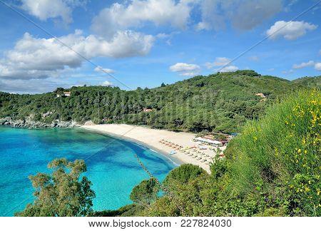 Beach On Island Of Elba Called Fetovaia Beach,mediterranean Sea,tuscany,italy