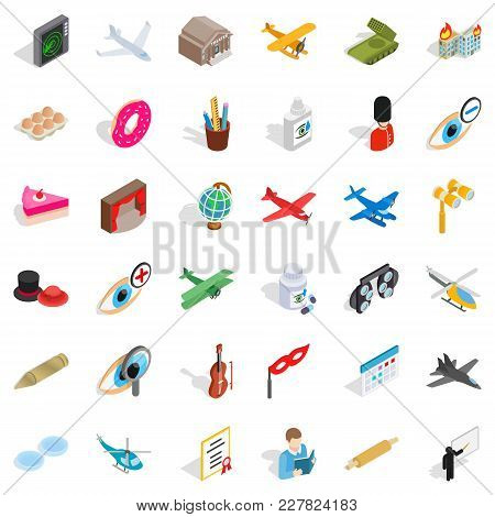 Invasion Icons Set. Isometric Set Of 36 Invasion Vector Icons For Web Isolated On White Background