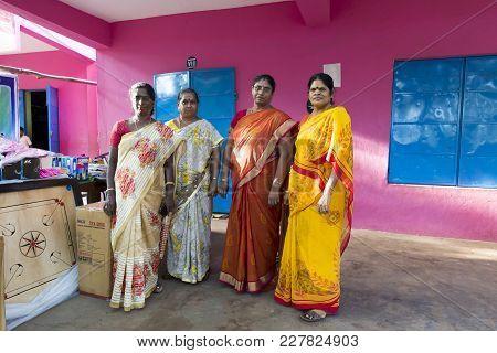 Pondichery, Puduchery, India - September 04, 2017. Outdoor Meeting Of The Children Of The School, Te