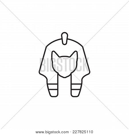 Egyptian God Icon In Line Style. Egypt God Object Vector Illustration Isolated On White Background.